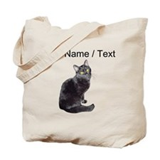 Custom Black Cat Tote Bag