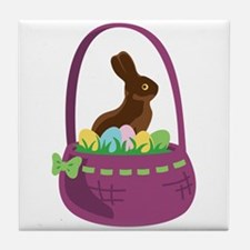 Easter Basket Tile Coaster