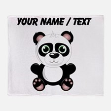 Custom Baby Panda Throw Blanket