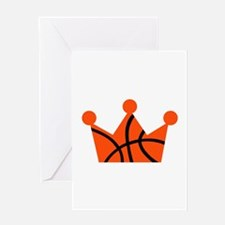 Basketball crown ball Greeting Card