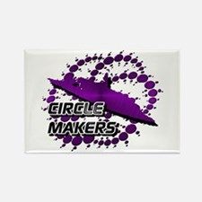 Circle Makers Purple Rectangle Magnet