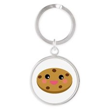 Chocolate Cookie Round Keychain
