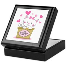 Kitty Grandma Loves Me Keepsake Box