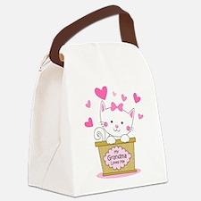Kitty Grandma Loves Me Canvas Lunch Bag