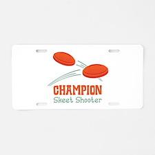 Champion Skeet Shooter Aluminum License Plate