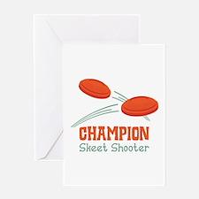 Champion Skeet Shooter Greeting Cards