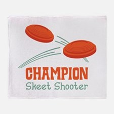 Champion Skeet Shooter Throw Blanket