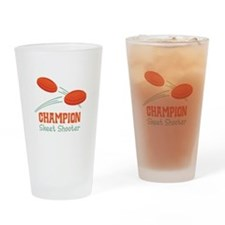 Champion Skeet Shooter Drinking Glass