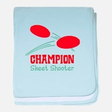 Champion Skeet Shooter baby blanket