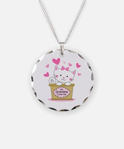 Kitty Grandma Loves Me Necklace