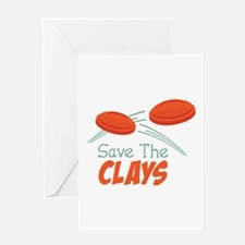 Save The CLAYS Greeting Cards
