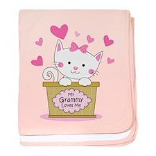 Kitty Grammy Loves Me baby blanket