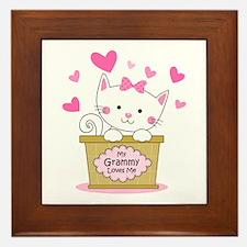 Kitty Grammy Loves Me Framed Tile