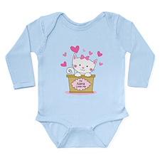 Kitty Nana Loves Me Long Sleeve Infant Bodysuit