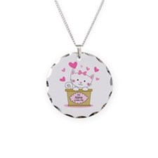 Kitty Nana Loves Me Necklace Circle Charm