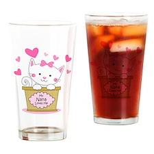 Kitty Nana Loves Me Drinking Glass