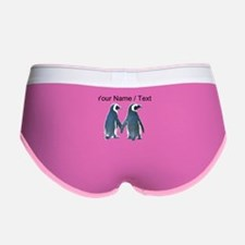 Custom Penguins Holding Hands Women's Boy Brief
