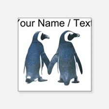 Custom Penguins Holding Hands Sticker