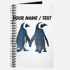 Custom Penguins Holding Hands Journal