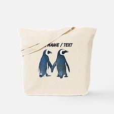 Custom Penguins Holding Hands Tote Bag