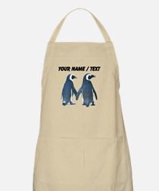 Custom Penguins Holding Hands Apron