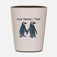Custom Penguins Holding Hands Shot Glass