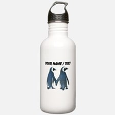 Custom Penguins Holding Hands Sports Water Bottle