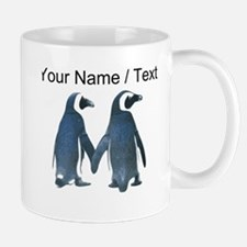 Custom Penguins Holding Hands Mugs
