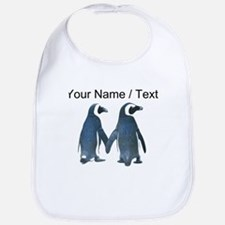 Custom Penguins Holding Hands Bib