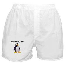 Custom Cartoon Penguin Boxer Shorts
