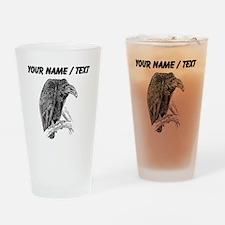 Custom Vulture Sketch Drinking Glass