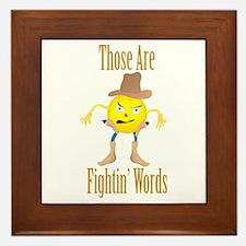 Cowboy Emoticon Framed Tile
