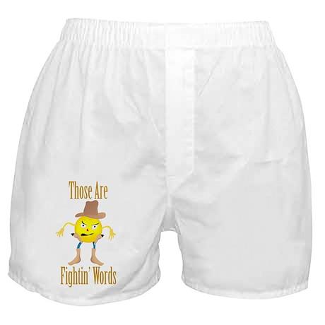 Cowboy Emoticon Boxer Shorts