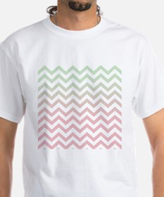 Modern Geometric Mint Green Pink Omb Shirt