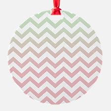 Modern Geometric Mint Green Pink Om Ornament