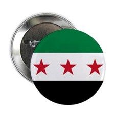 """Syrian National Coalition Flag 2.25"""" Button"""