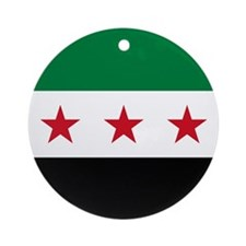 Syrian National Coalition Flag Ornament (Round)