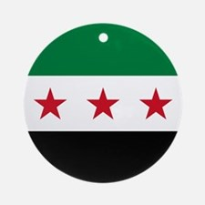 Syrian National Coalition Flag Round Ornament