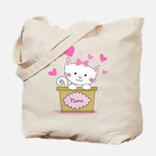 Personalized Kitty Love Tote Bag