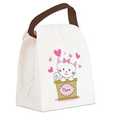 Personalized Kitty Love Canvas Lunch Bag
