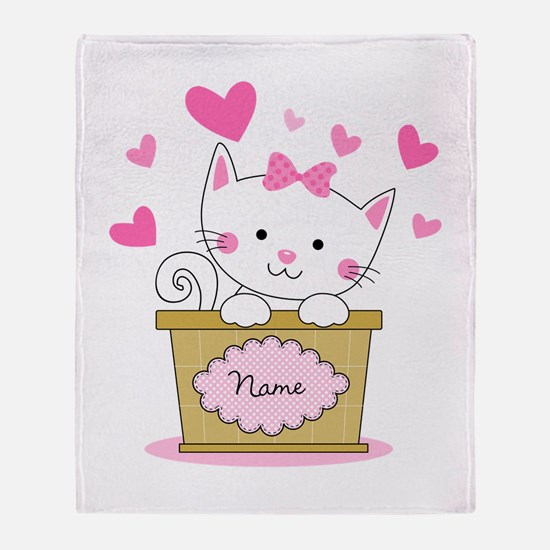 Personalized Kitty Love Throw Blanket