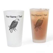 Custom Bald Eagle Sketch Drinking Glass