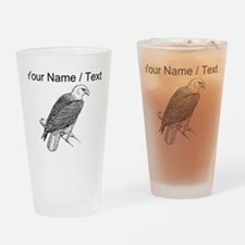 Custom Bald Eagle Sketch Drinking Glass