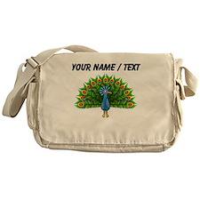 Custom Peacock Messenger Bag