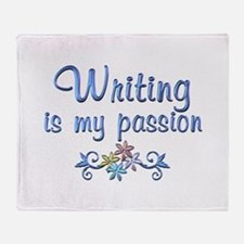 Writing Passion Throw Blanket