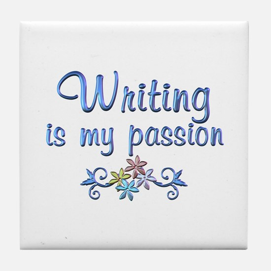 Writing Passion Tile Coaster