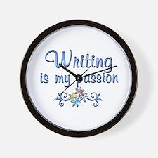 Writing Passion Wall Clock