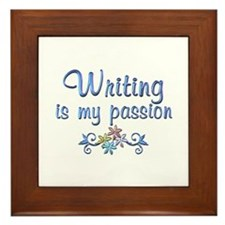 Writing Passion Framed Tile