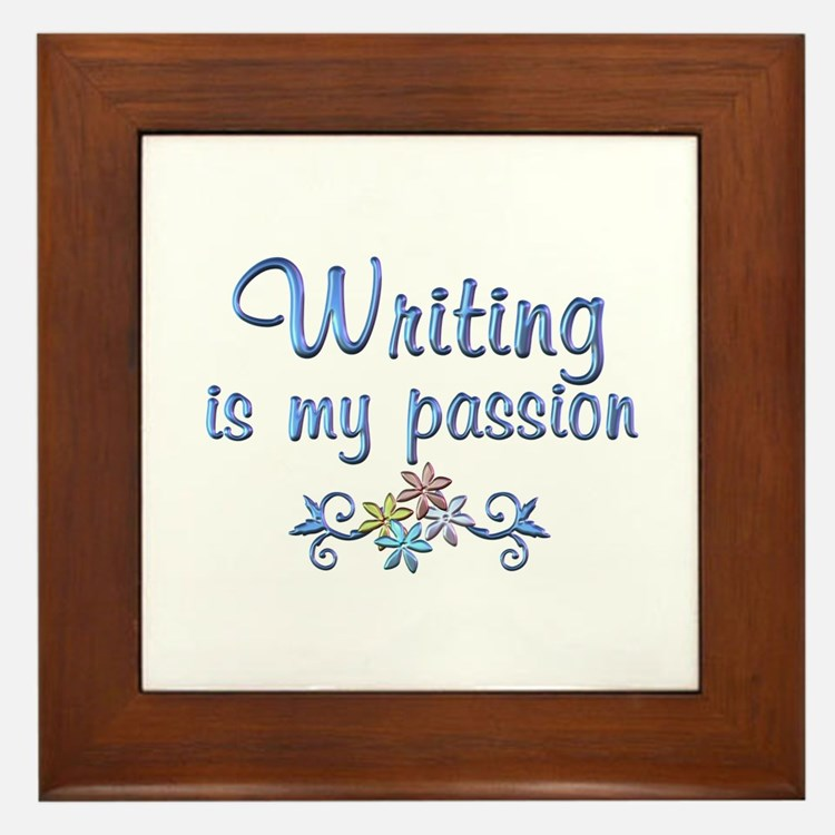 Writing Passion Framed Tile