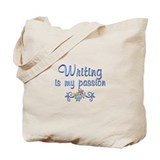 Writing Canvas Tote Bag